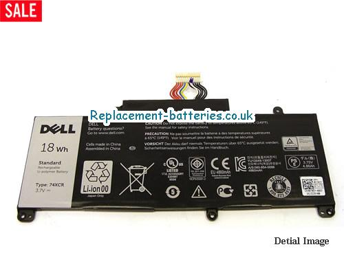 074XCR Battery, 3.7V DELL 074XCR Battery 18Wh