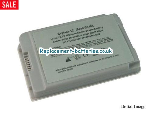 11.1V APPLE IBOOK G3 12 M8758B/A Battery 5200mAh