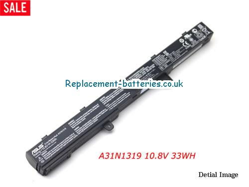 Genuine A31N1319 Battery For Asus X451C X451CA X551C X551CA Laptop 10.8V 33WH in United Kingdom and Ireland