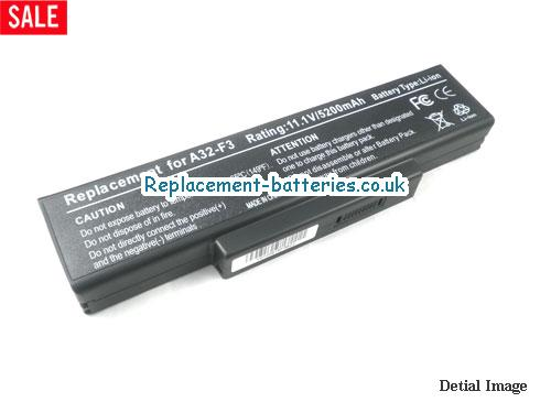 11.1V ASUS F3JC Battery 5200mAh