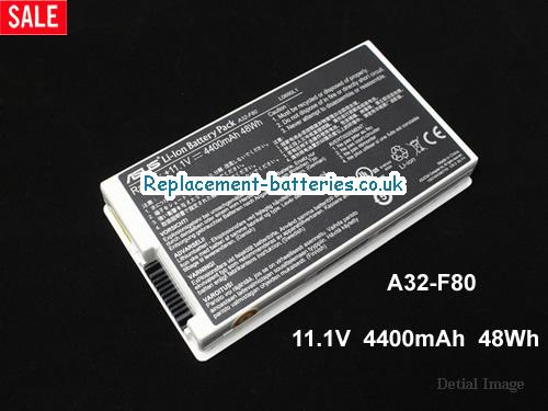 A32-F80A Battery, 11.1V ASUS A32-F80A Battery 4400mAh, 49Wh