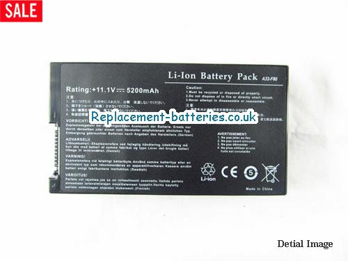 11.1V ASUS F50 SERIES Battery 5200mAh