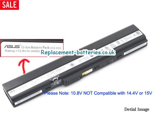 10.8V ASUS K42JA Battery 4400mAh