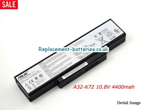 10.8V ASUS X72JK Battery 4400mAh, 48Wh
