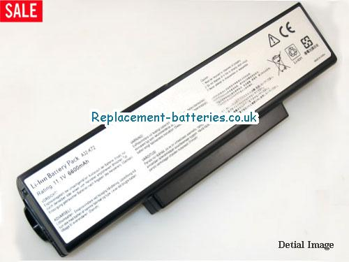 10.8V ASUS K72JK-X1 Battery 6600mAh