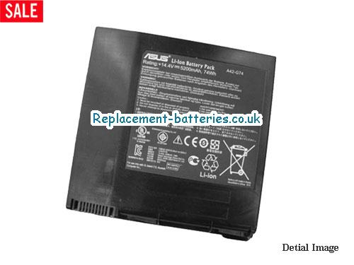 Genuine A42-G74 battery for ASUS G74J G74S-XR1 G74SW G74SX-TY151V G74SX G74 Laptop LC42SD128 in United Kingdom and Ireland