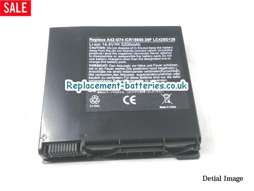 Replacement ASUS G74 laptop battery for asus G74J G74S G74SX G74SW G74JH Series, 5200mah, 8cells in United Kingdom and Ireland