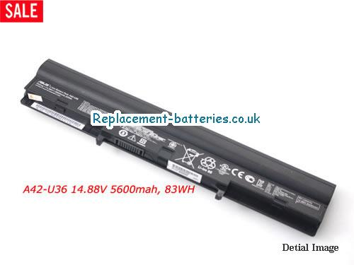 14.88V ASUS U36SG-DS51 Battery 5600mAh, 83Wh