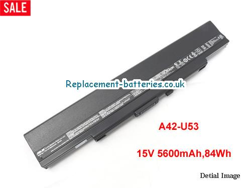 15V ASUS U53 SERIES Battery 5600mAh, 84Wh