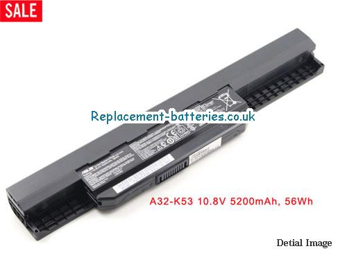 10.8V ASUS A53BY Battery 5200mAh