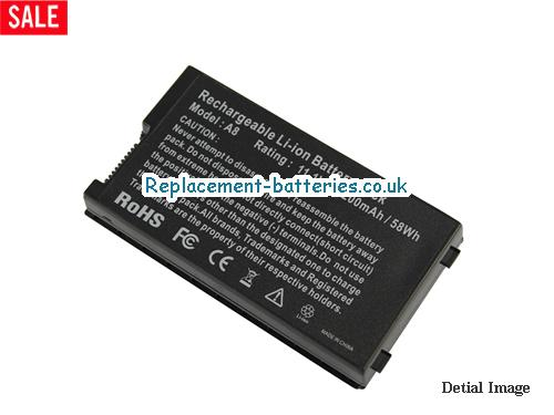 11.1V ASUS Z99JR Battery 5200mAh, 58Wh