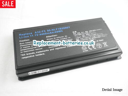 70-NLF1B2000 Battery, 11.1V ASUS 70-NLF1B2000 Battery 5200mAh