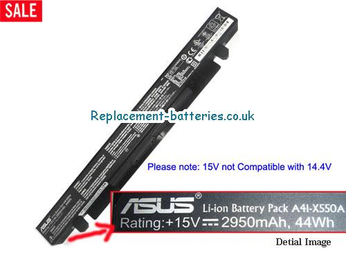 15V ASUS F450VB Battery 2950mAh, 44Wh