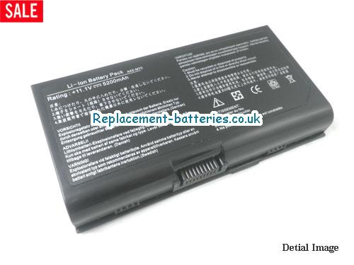 11.1V ASUS X71SL Battery 4400mAh