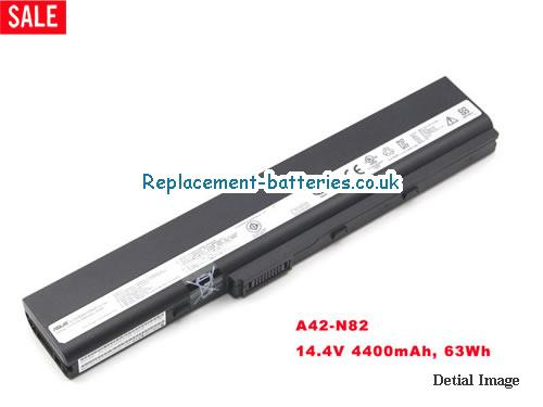 14.4V ASUS N82 SERIES Battery 4400mAh