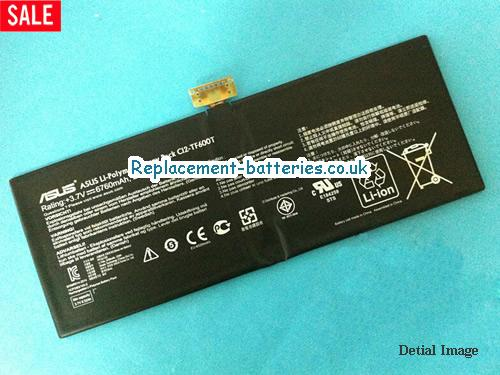 C12-TF600T Tablet Replacement Battery for ASUS VIVO TAB TF600T WINDOWS PACK in United Kingdom and Ireland