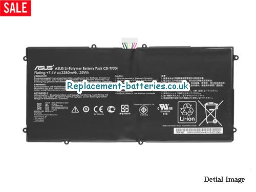 7.4V ASUS TRANSFORMER PAD TF700 Battery 3380mAh, 25Wh