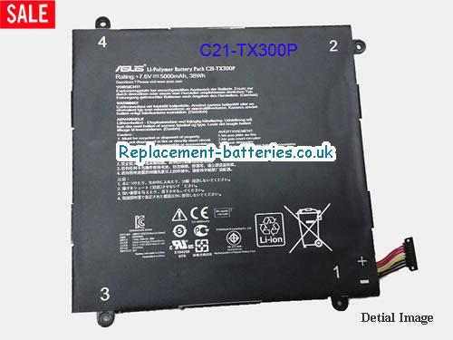 Genuine ASUS C21-TX300P Battery For Transformer Book TX300 in United Kingdom and Ireland