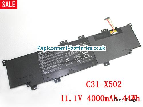X502CA Battery, 11.1V ASUS X502CA Battery 4000mAh, 44Wh