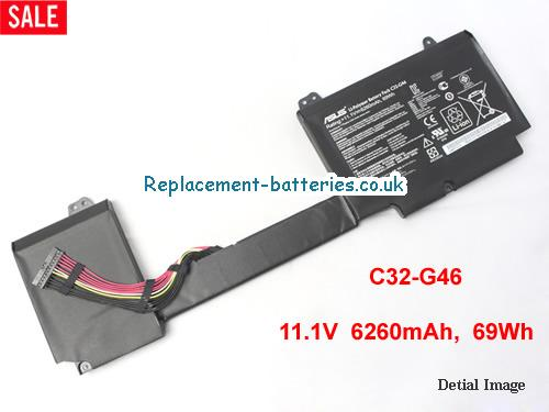 11.1V ASUS G46VW Battery 6260mAh, 69Wh
