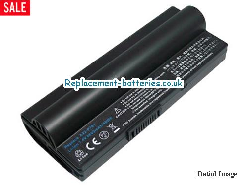 7.4V ASUS EEE PC 20G Battery 6600mAh
