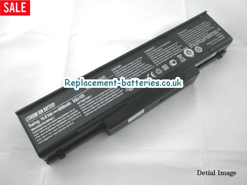 UK 4400mAh Long life laptop battery for Asi Amata S96S, S96J, S96E, EL80N,