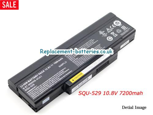 M660BAT-6 Battery, 10.8V CLEVO M660BAT-6 Battery 7200mAh