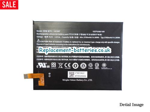 141007 Battery For ACER Iconia Talk S A1724 A1-724 Series in United Kingdom and Ireland
