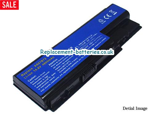 14.8V ACER AS7520G-502G25MI Battery 4400mAh