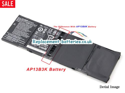 15V ACER ASPIRE V7-481PG Battery 3460mAh, 53Wh