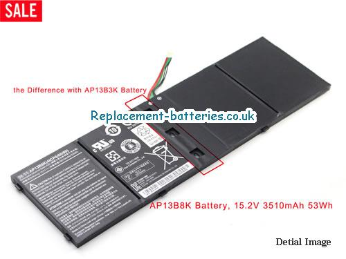 15V ACER ASPIRE M5-583P Battery 3460mAh, 53Wh