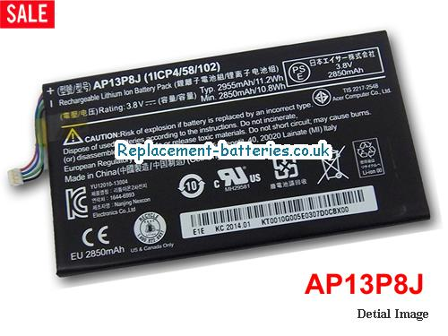 AP13P8J Battery for ACER Iconia Tab B1-720 Tablet in United Kingdom and Ireland