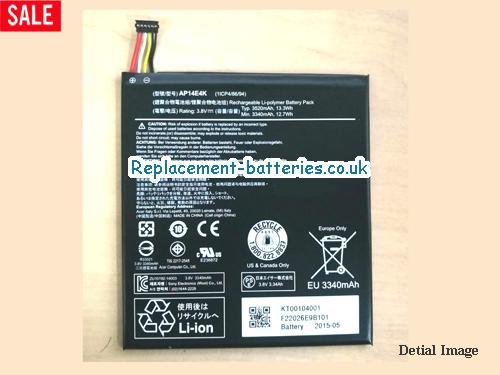 Acer AP14E4K Iconia One7 B1-750 Laptop Battery  in United Kingdom and Ireland