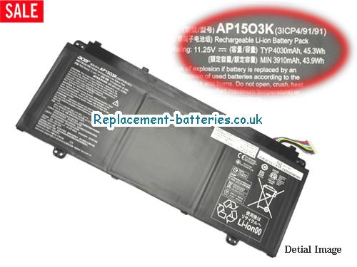 ACER AP1503K Battery For Aspire S13  S5 series Laptop in United Kingdom and Ireland
