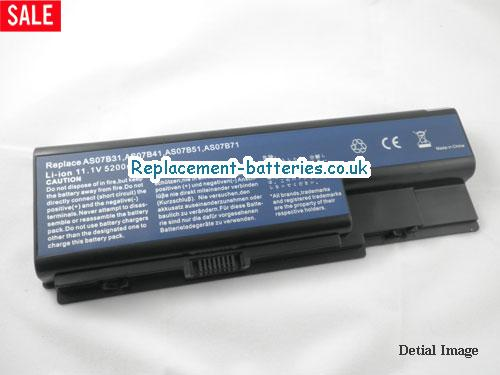 11.1V ACER ASPIRE 5310G Battery 5200mAh