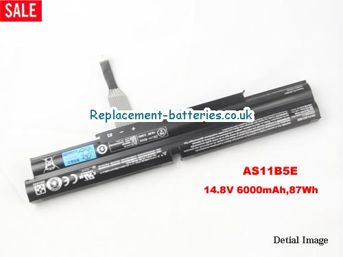 BT.00805.018 Battery, 14.8V ACER BT.00805.018 Battery 6000mAh, 87Wh