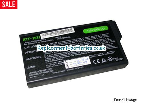 BTP1931 Battery, 14.8V ACER BTP1931 Battery 3200mAh