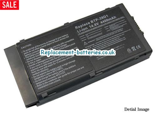 BTP620 Battery, 14.8V ACER BTP620 Battery 3920mAh