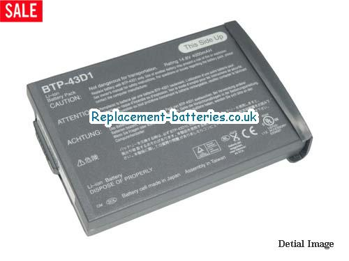 ACER BTP-43D1,60.49S17.021, 60.49S22.011, 91.46W28.001, 91.49S28.001 Battery Grey, in United Kingdom and Ireland