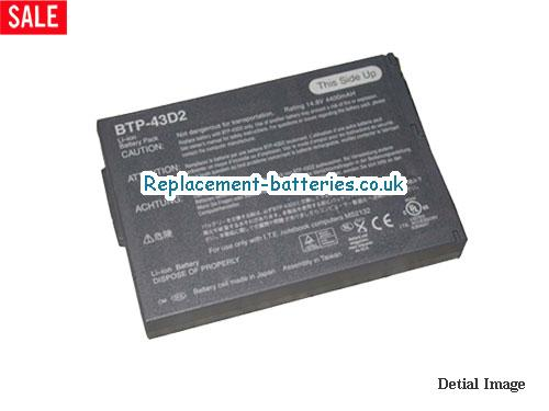 ACER BTP-43D2, BTP-43D1, TRAVELMATE 225 laptop battery, 8cells in United Kingdom and Ireland
