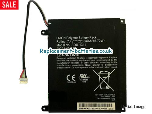 ACER SQU-1311 battery packs rechargeable 2ICP4/69/82 Battery 7.4V 2260MAH  in United Kingdom and Ireland