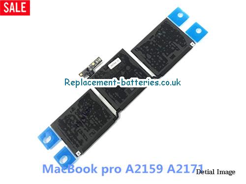 Repalcement A2171 Battery For Apple MacBook Pro A2159 Notebook 11.41v 58.2Wh in United Kingdom and Ireland