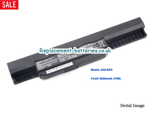 14.8V ASUS K43BY Battery 2600mAh, 37Wh