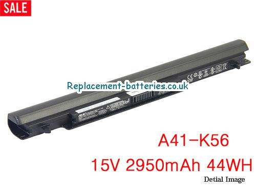 15V ASUS K56CA Battery 2950mAh, 44Wh