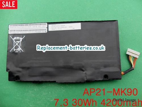 7.3V ASUS EEE PC T91 MT Battery 4200mAh, 30Wh