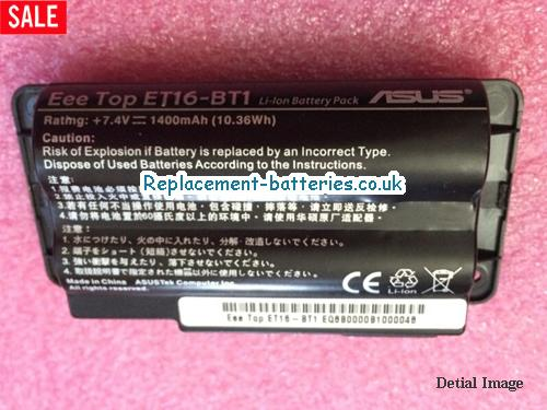 Genuine ASUS Eee Top ET16-BT1 ET1603 7.4V 1400mah battery in United Kingdom and Ireland