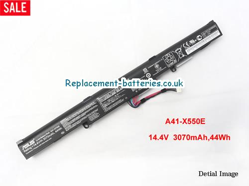 A41-X550E X550E 14.4V 44Wh Battery for ASUS A450 A450JF K550E X450 X450J series Notebook  in United Kingdom and Ireland