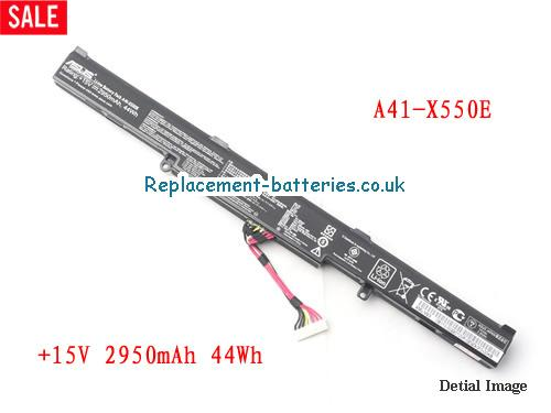 Genuine A41-X550E 15V 44Wh Battery For ASUS K550E X450 X450J A450 Series in United Kingdom and Ireland