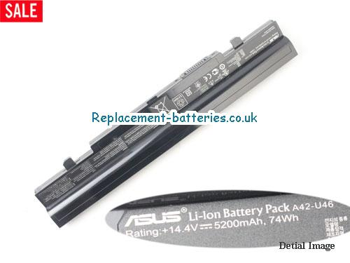 14.4V ASUS U46S SERIES Battery 5200mAh, 74Wh