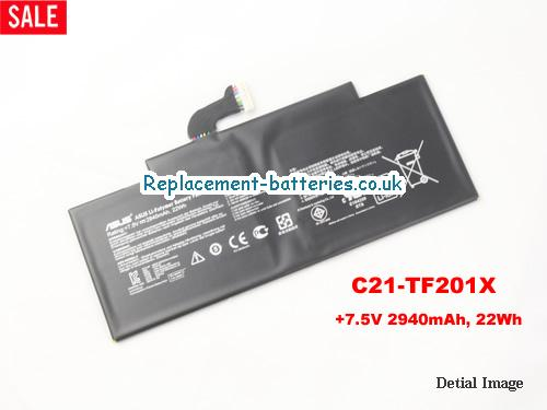 7.5V ASUS TF2 Battery 2940mAh, 22Wh